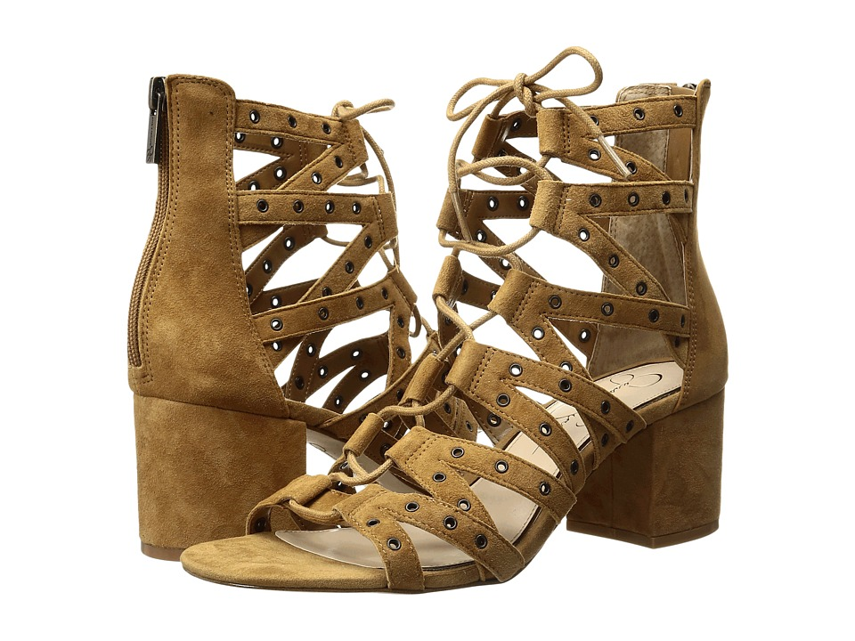 Jessica Simpson Haize Honey Brown Luxe Kid Suede Shoes