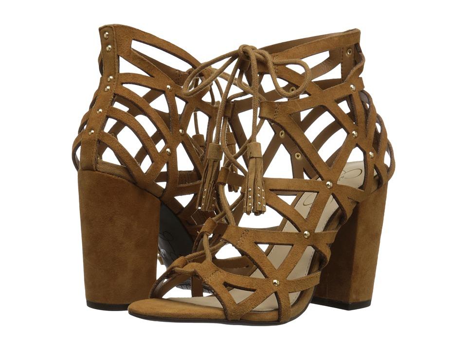 Jessica Simpson Kariba Honey Brown Luxe Kid Suede Shoes