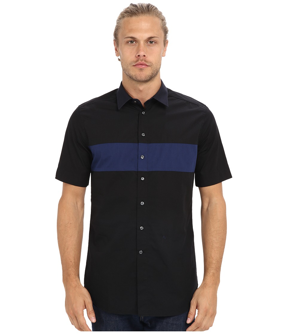 Diesel - S-Coast-SHO Shirt (Black) Men's Short Sleeve Button Up