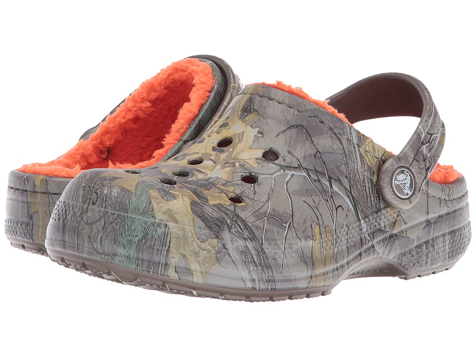 Crocs Kids - Crocs Winter Realtree Xtra Clog K (Toddler/Little Kid) (Chocolate/Orange) Kids Shoes
