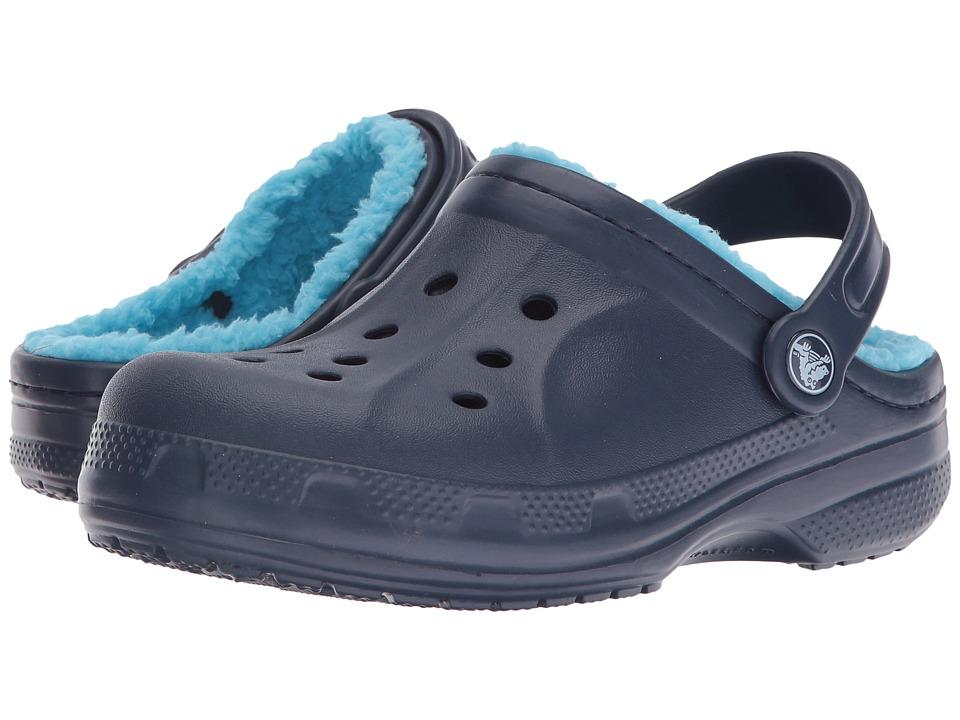 Crocs Kids - Crocs Winter Clog (Toddler/Little Kid) (Navy/Electric Blue) Kids Shoes