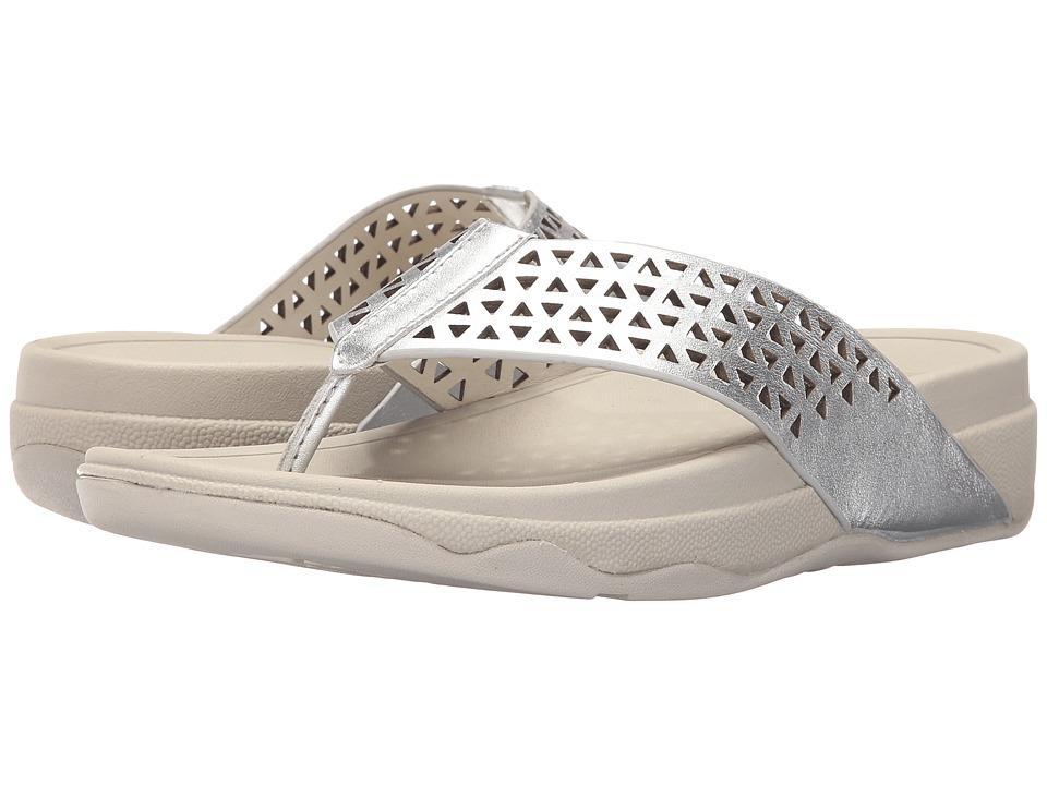 FitFlop - Lattice Surfa (Silver) Women's Sandals
