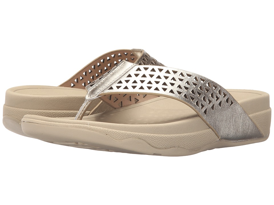FitFlop - Lattice Surfa (Pale Gold) Women's Sandals