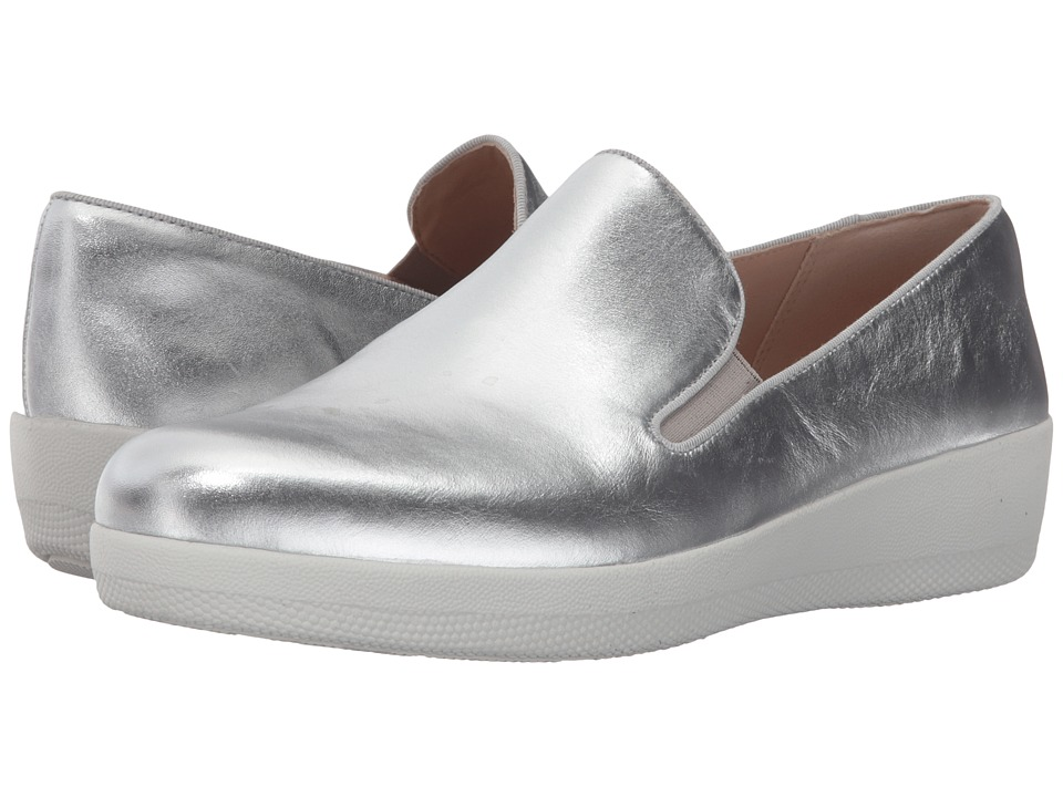 FitFlop - Superskate (Silver) Women's Clog/Mule Shoes