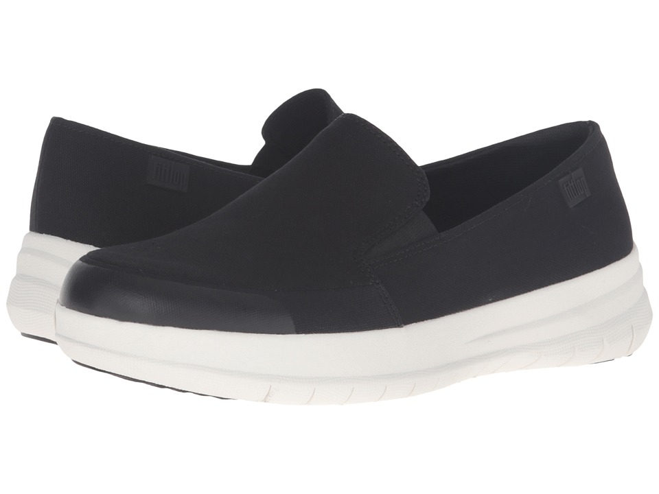 FitFlop - Sporty - Pop Skate Canvas (Black) Women's Clog/Mule Shoes