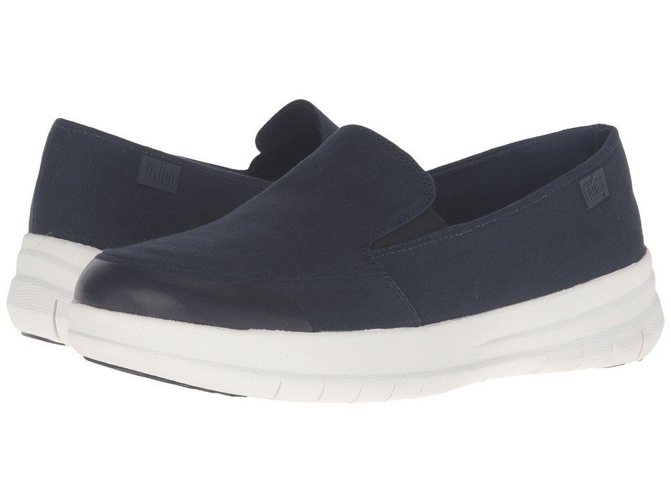 FitFlop - Sporty - Pop Skate Canvas (Supernavy) Women's Clog/Mule Shoes