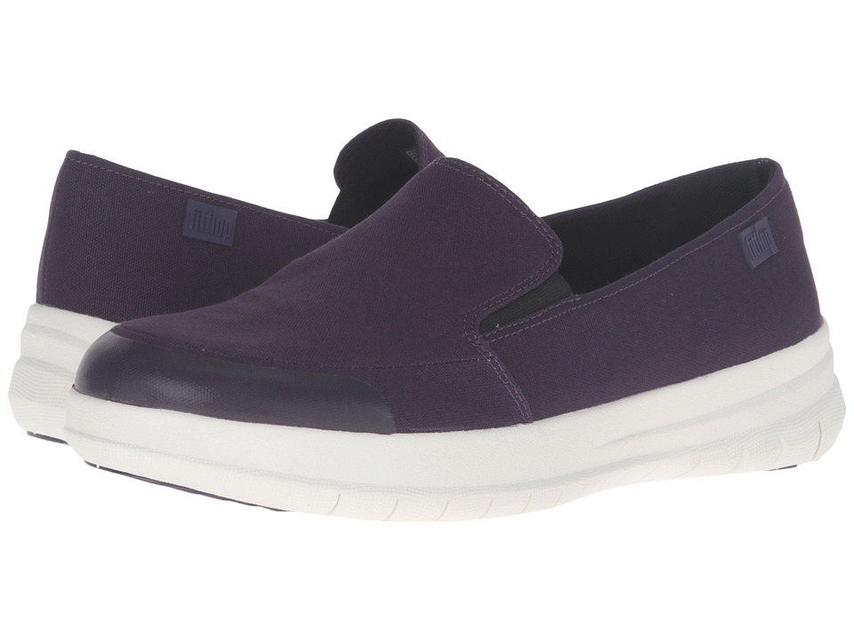 FitFlop - Sporty - Pop Skate Canvas (Deep Plum) Women's Clog/Mule Shoes