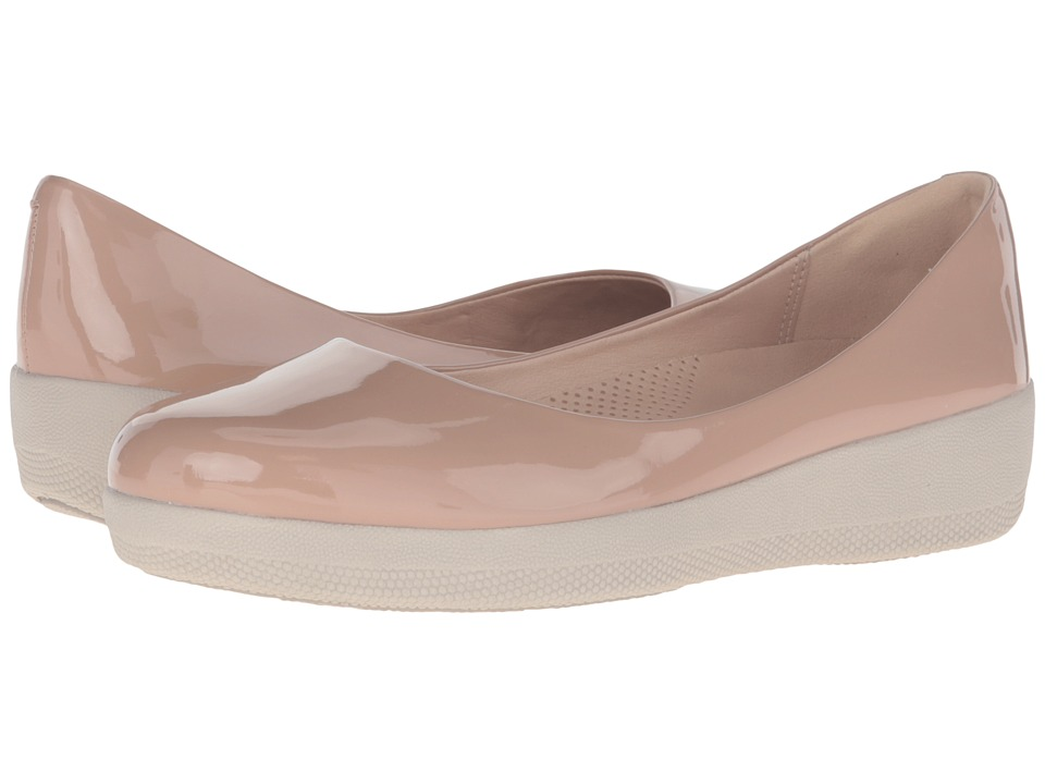 FitFlop - Patent Superballerina (Nude) Women's Clog/Mule Shoes