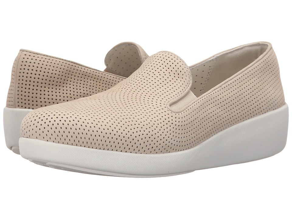 FitFlop - Pop Skate Perf (Urban White) Women's Flat Shoes