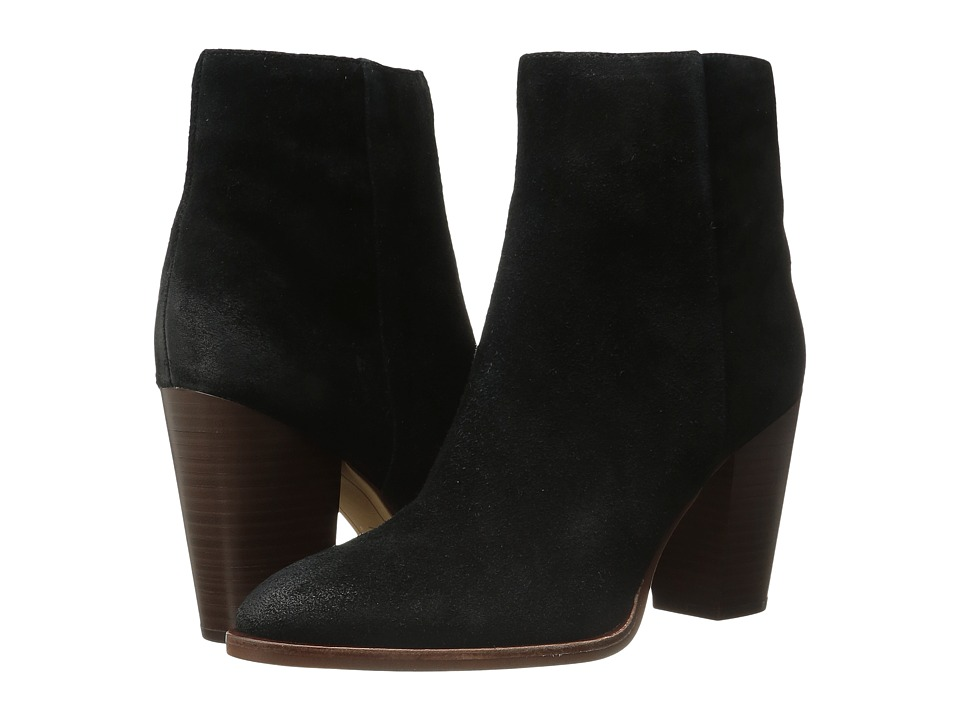 Sam Edelman Blake Black Velour Suede Leather Shoes