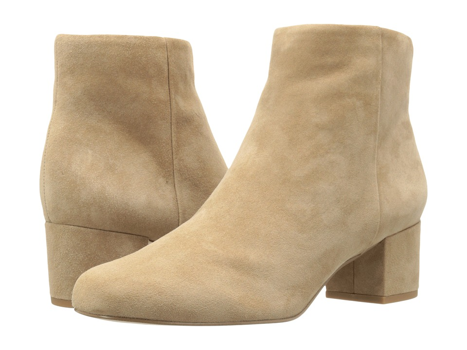 Sam Edelman Edith Oatmeal Suede Leather Zip Boots