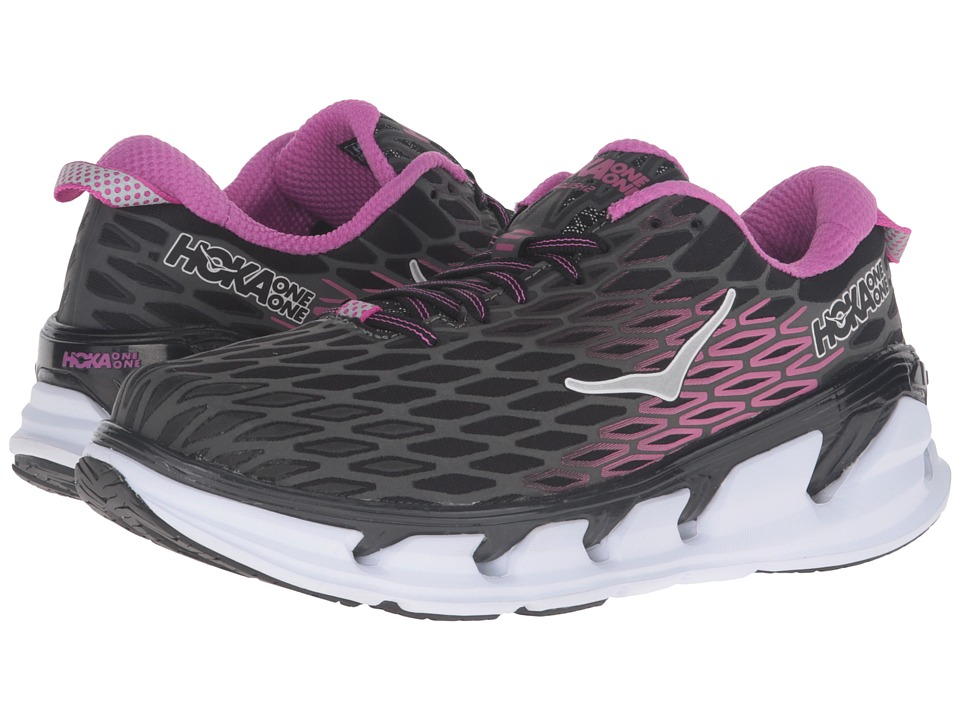 Hoka One One - Vanquish 2 (Black/Fuchsia) Women's Running Shoes