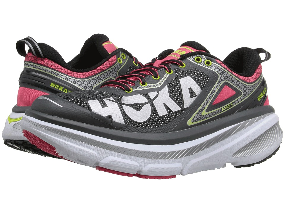 Hoka One One - Bondi 4 (Grey/Teaberry) Women's Running Shoes