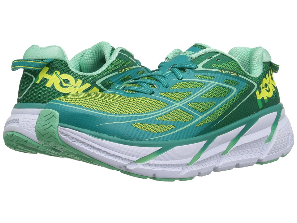 Hoka One One Clifton 3 (Tropical Green/Spring Bud) Women