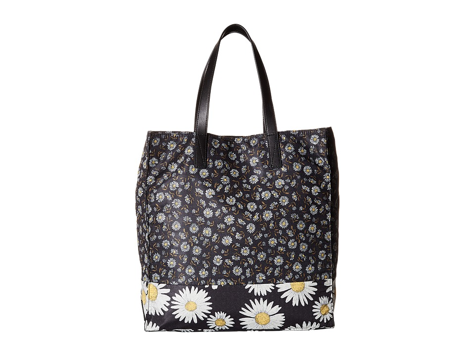 Marc Jacobs - BYOT Mixed Daisy Flower North/South Tote (Black Multi) Tote Handbags