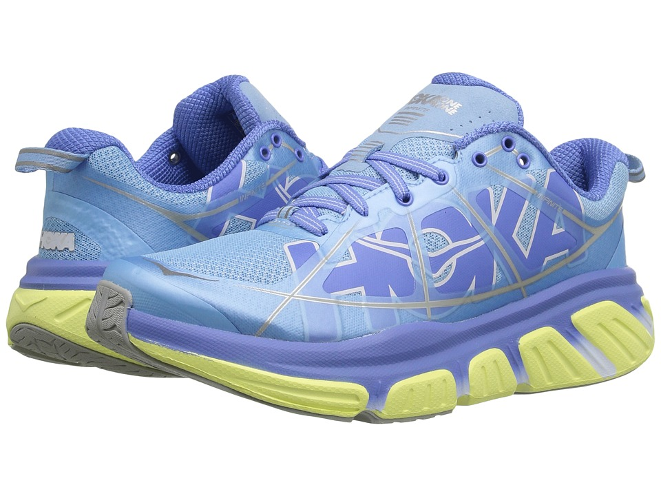 Hoka One One - Infinite (Sky Blue/Sunny Lime) Women's Running Shoes