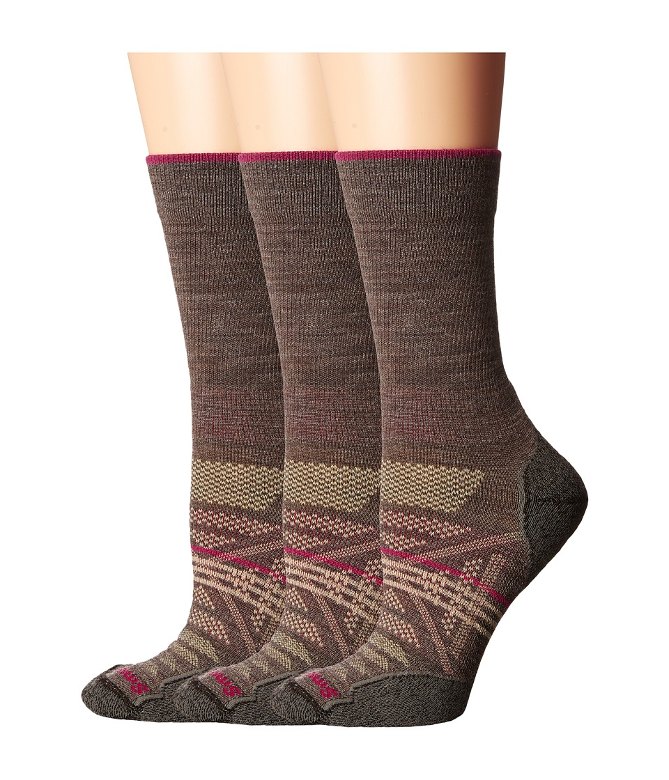 Smartwool - PhD Outdoor Light Crew 3-Pack (Taupe 1) Women's Crew Cut Socks Shoes