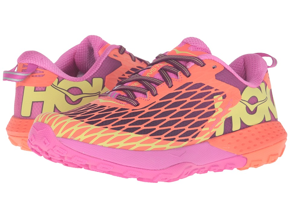 Hoka One One - Speed Instinct (Neon Coral/Plum) Women's Shoes