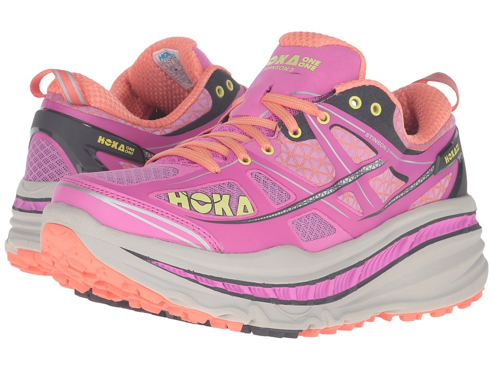Hoka One One - Stinson 3 ATR (Fuchsia/Fusion Coral) Women's Running Shoes