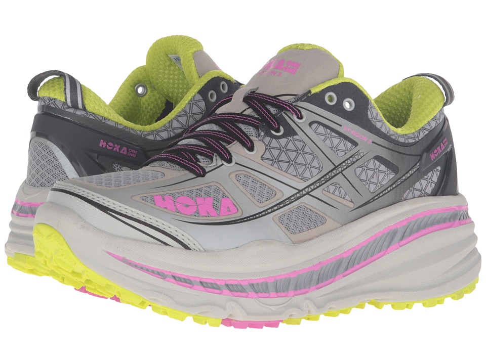 Hoka One One - Stinson 3 ATR (Grey/Fuchsia) Women's Running Shoes