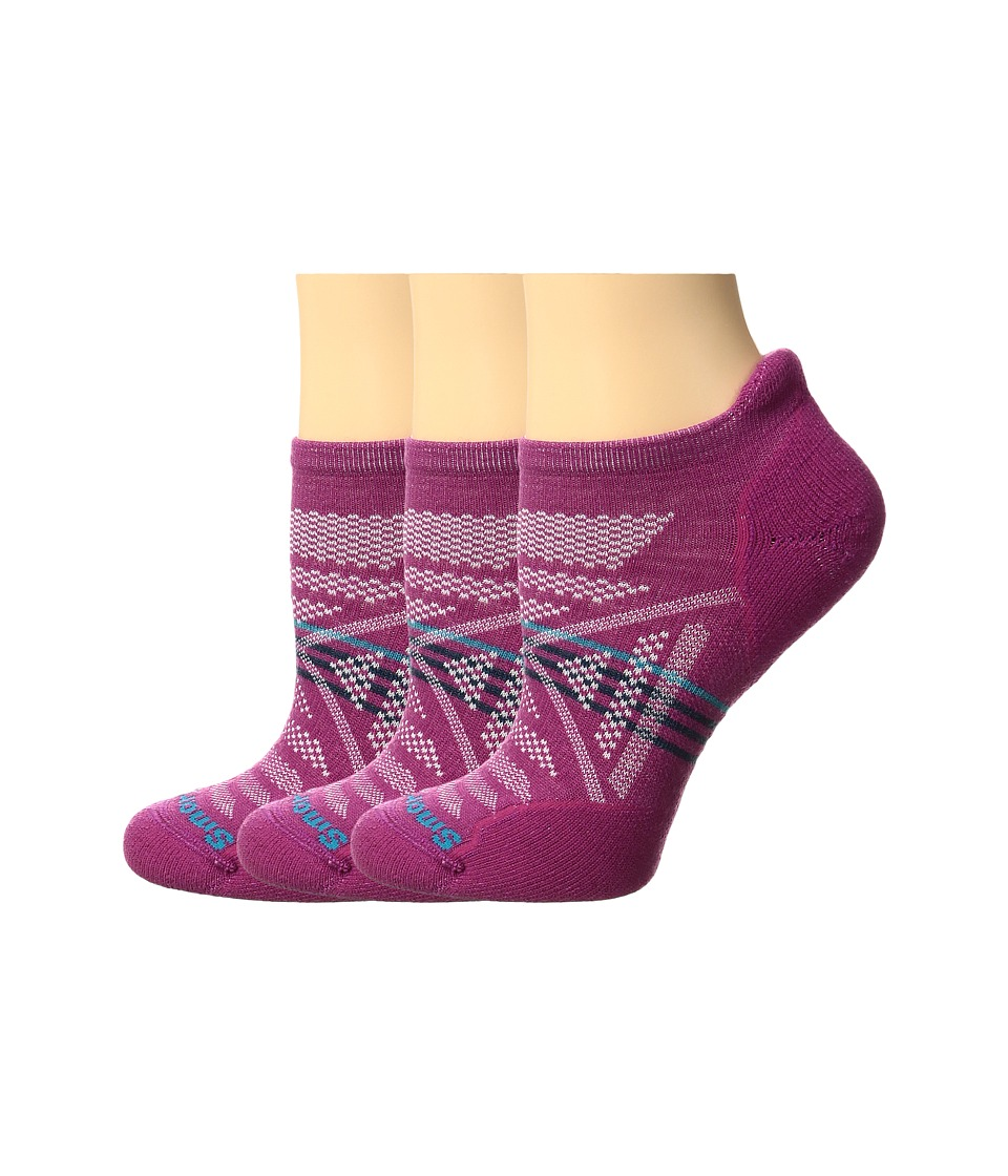 Smartwool - PhD Outdoor Light Micro 3-Pack (Berry) Women's Crew Cut Socks Shoes