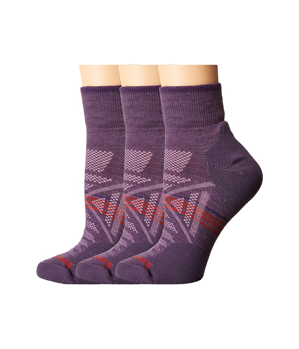 Smartwool - PhD Outdoor Light Mini 3-Pack (Desert Purple) Women's Quarter Length Socks Shoes
