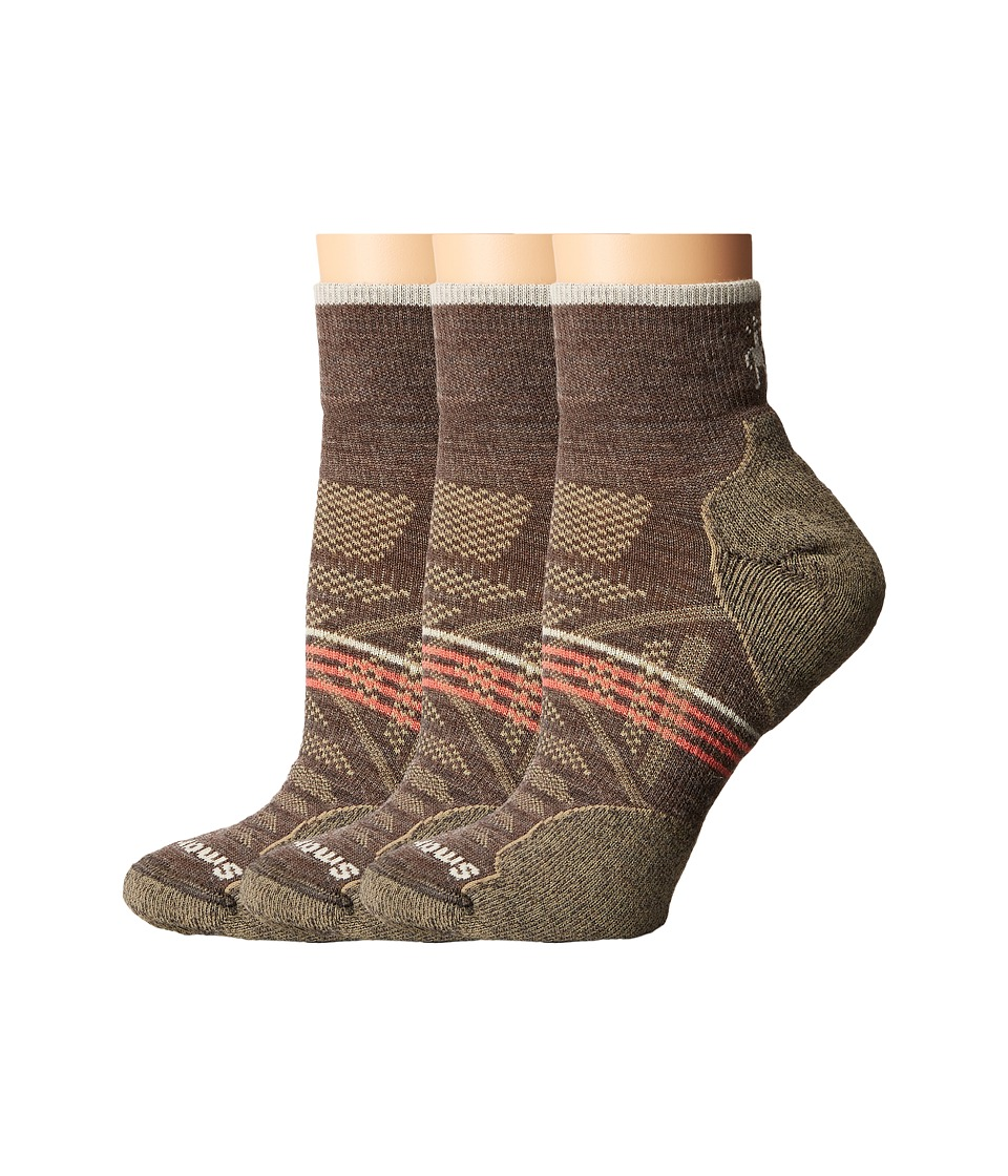 Smartwool - PhD Outdoor Light Mini 3-Pack (Taupe 1) Women's Quarter Length Socks Shoes
