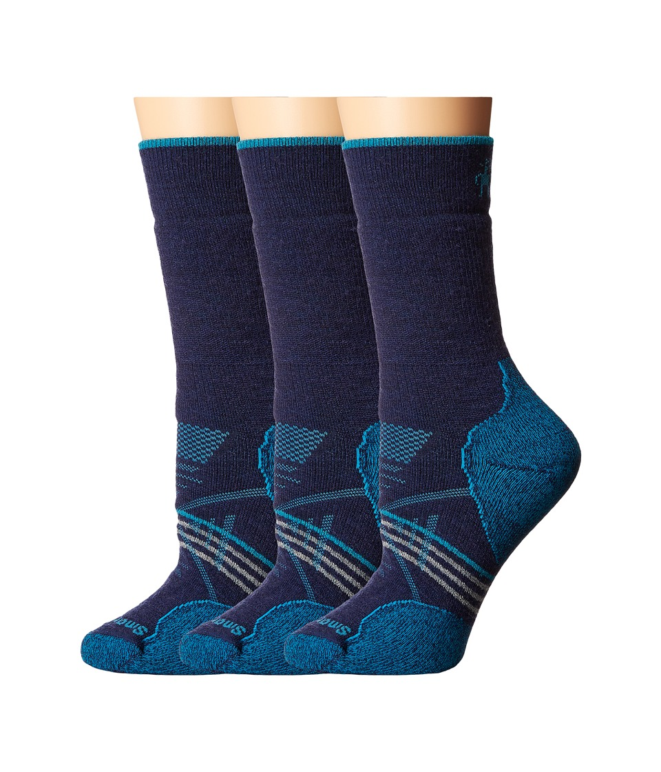 Smartwool - PhD Outdoor Medium Crew 3-Pack (Ink) Women's Crew Cut Socks Shoes
