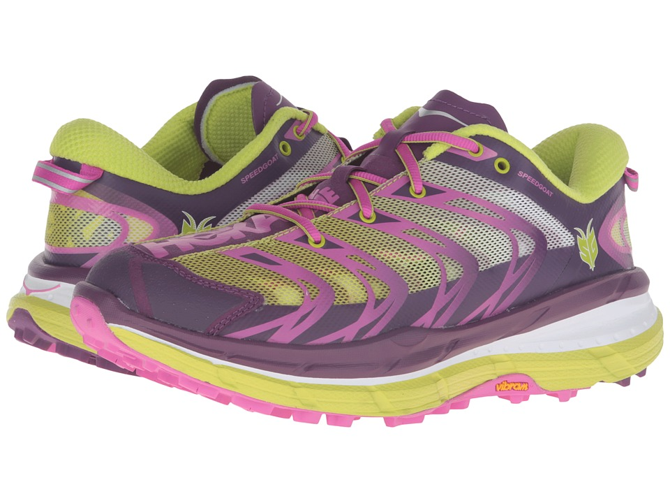 Hoka One One - Speedgoat (Plum/Fuchsia/Acid) Women's Running Shoes
