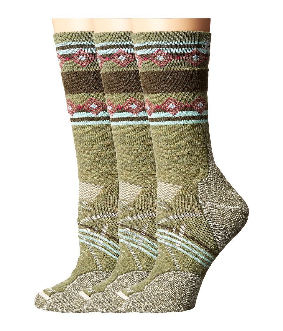 Smartwool - PhD Outdoor Medium Pattern Crew 3-Pair Pack (Light Loden) Women's Crew Cut Socks Shoes
