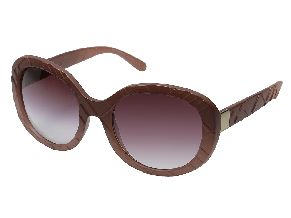 Burberry - 0BE4218 (Matte Gradient Pale Rose) Fashion Sunglasses