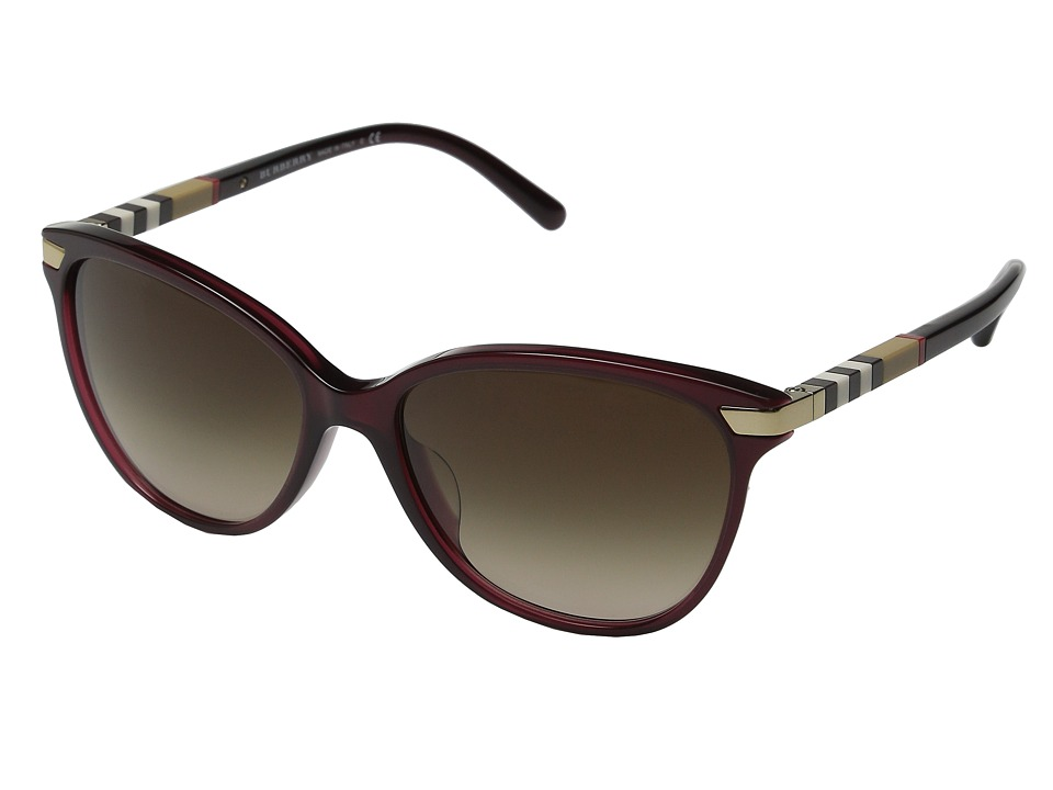 Burberry - 0BE4216F (Transclucent Oxblood) Fashion Sunglasses