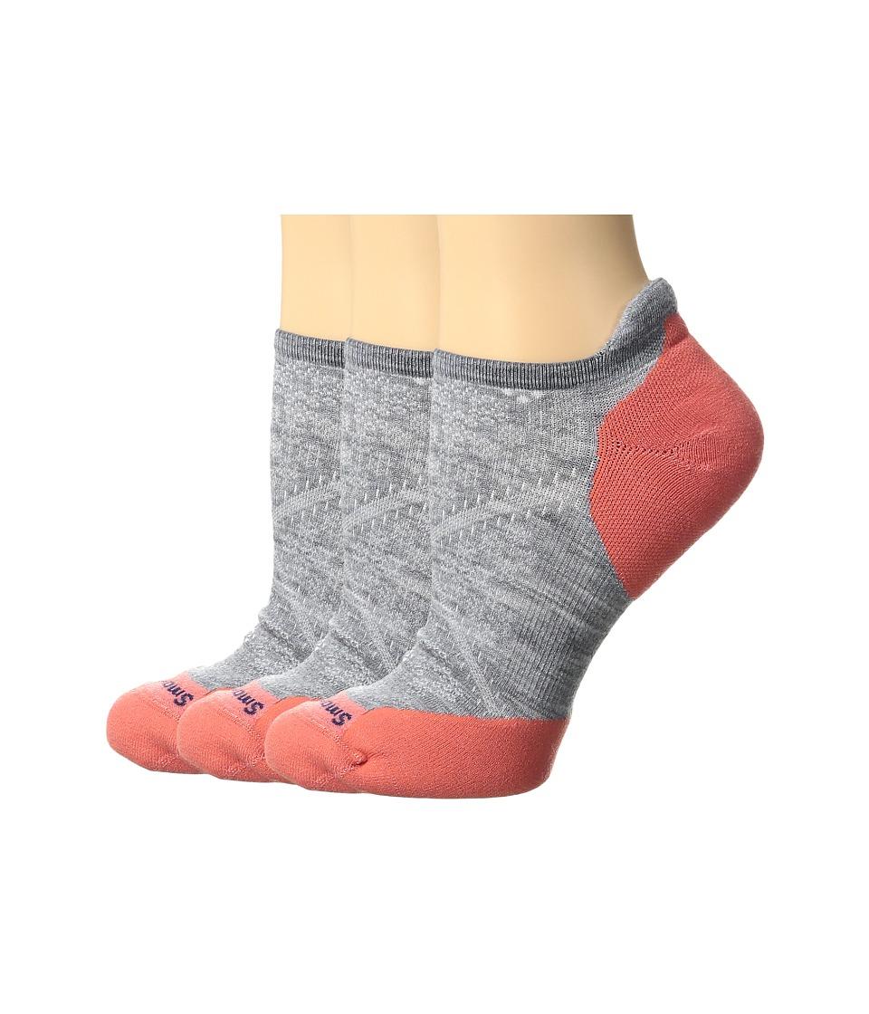Smartwool - PhD Run Elite Micro 3-Pair Pack (Light Gray) Women's Crew Cut Socks Shoes