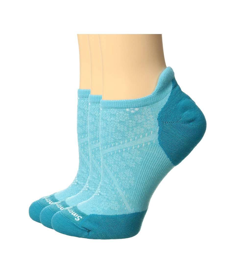 Smartwool - PhD Run Elite Micro 3-Pair Pack (Light Capri) Women's Crew Cut Socks Shoes