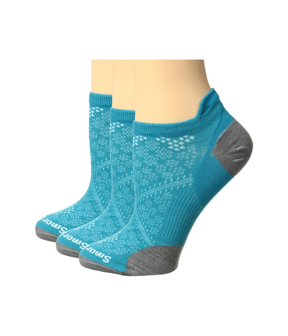 Smartwool - PhD Run Ultra Light Micro 3-Pair Pack (Capri) Women's Crew Cut Socks Shoes