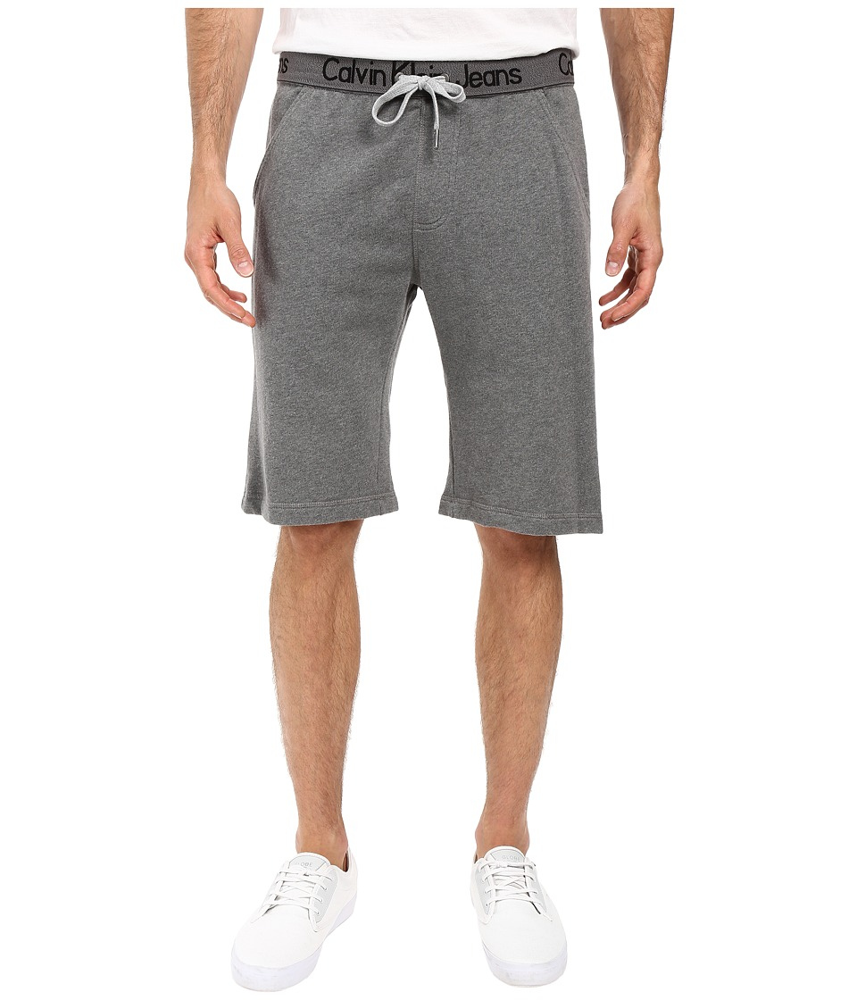 Calvin Klein Jeans - Logo Waistband Shorts (Medium Grey Heather) Men's Shorts