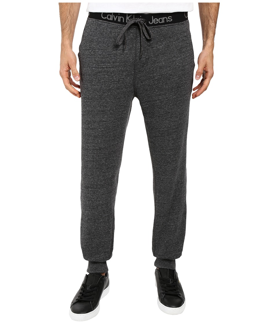 Calvin Klein Jeans - Logo Waistband Sweatpants (Urban Grey Heather) Men's Casual Pants