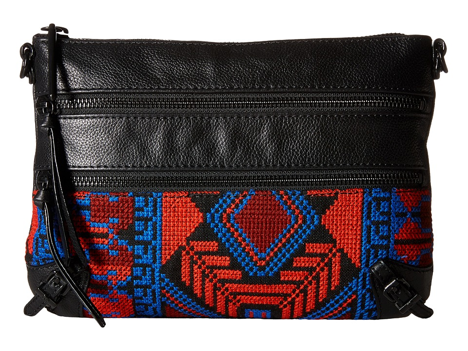 Elliott Lucca - Bali '89 3 Zip Clutch (Black Gypset) Clutch Handbags
