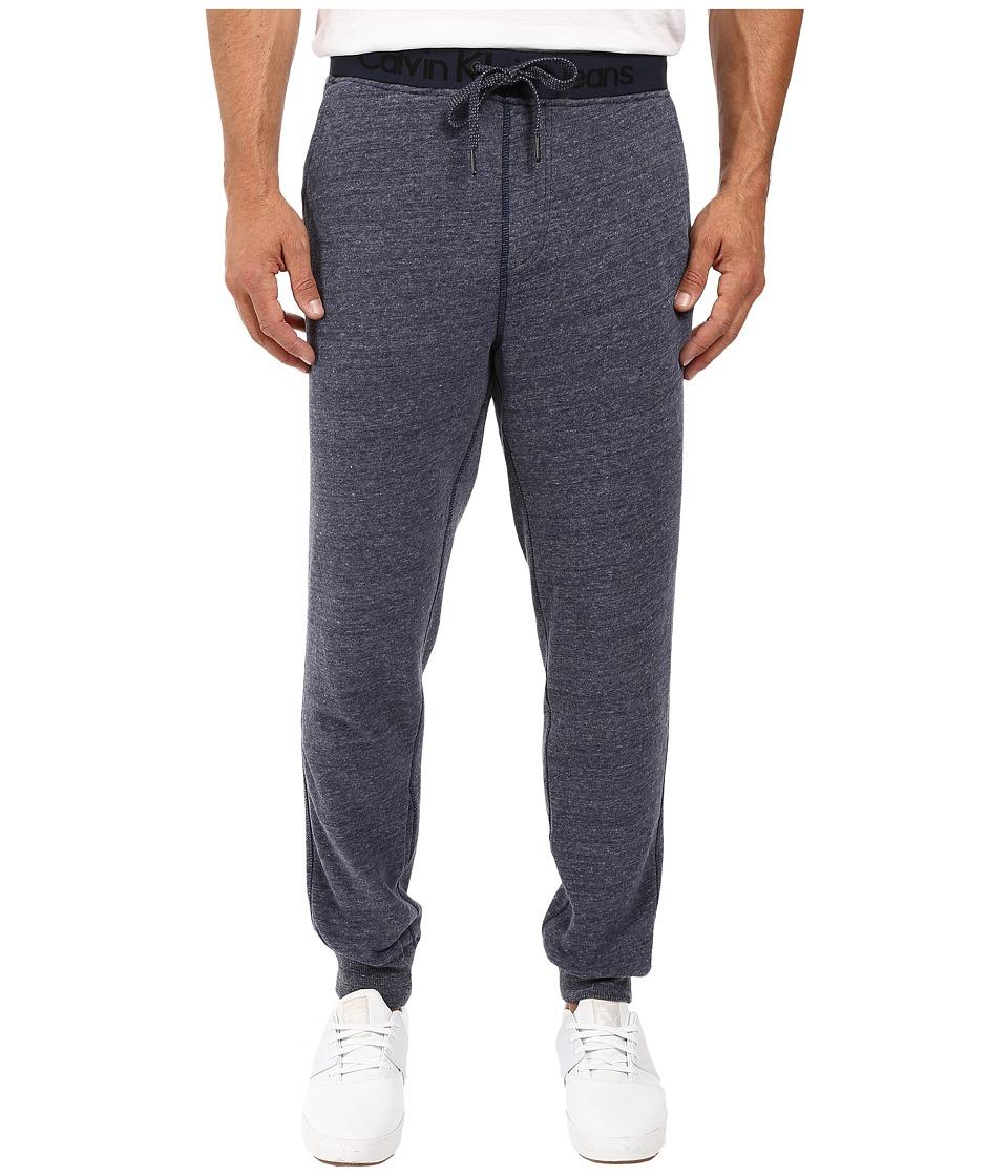 Calvin Klein Jeans - Logo Waistband Sweatpants (Blue Cap Heather) Men's Casual Pants
