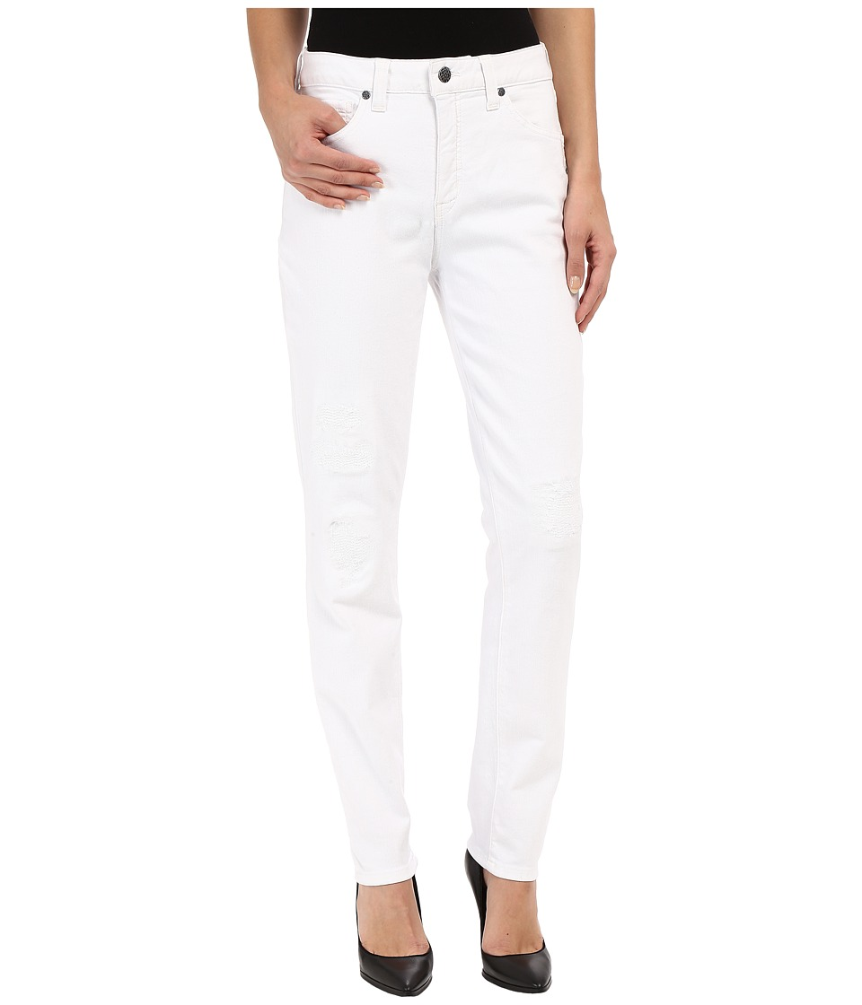 Miraclebody Jeans - Ricky Rip and Repair Skinny Jeans in Blanco White (Blanco White) Women's Jeans