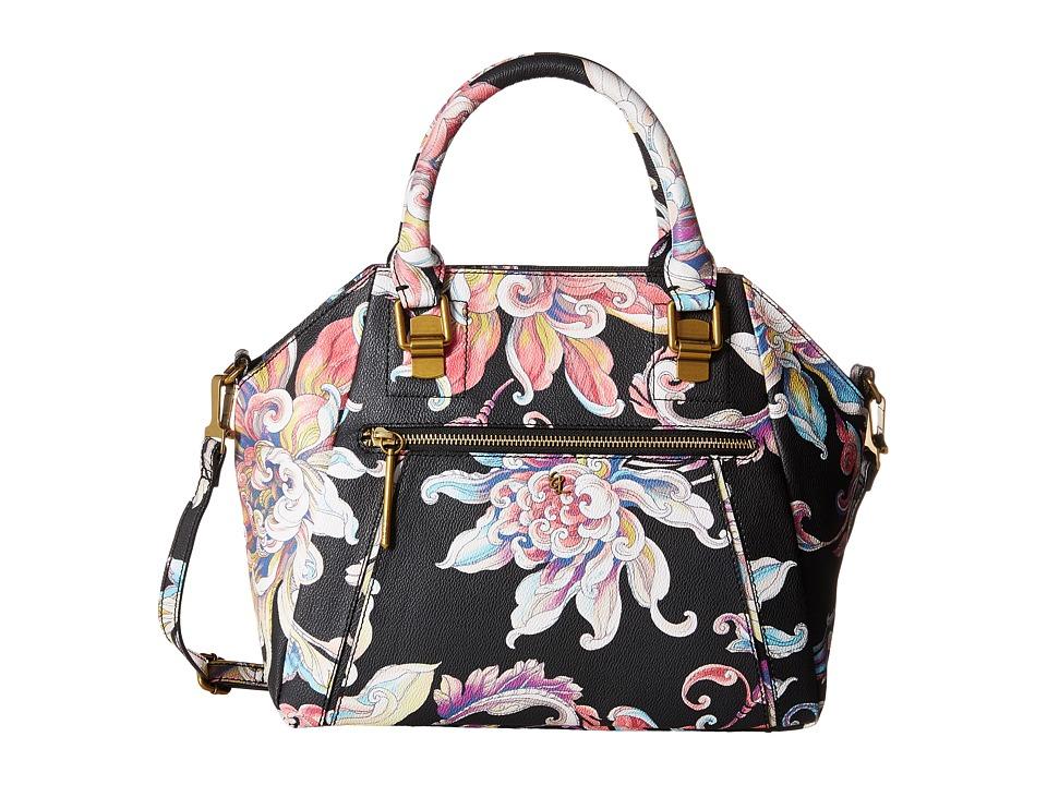 Elliott Lucca - Faro City Satchel (Black Wildflower) Satchel Handbags