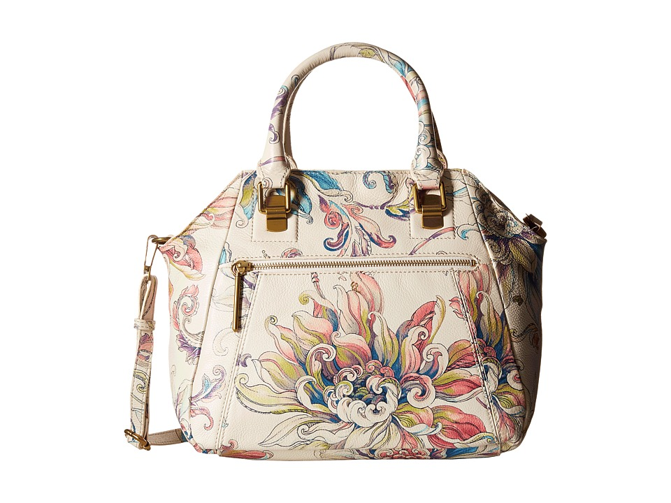 Elliott Lucca - Faro City Satchel (White Wildflower) Satchel Handbags