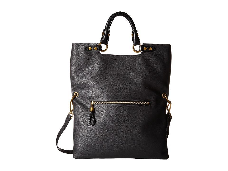 Elliott Lucca - Iara Crossbody Foldover Tote (Black Spring Botanica) Tote Handbags
