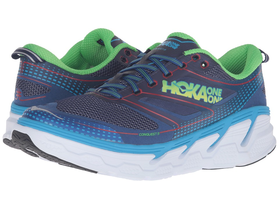 Hoka One One - Conquest 3 (Astral Aura/Neon Green) Men's Shoes