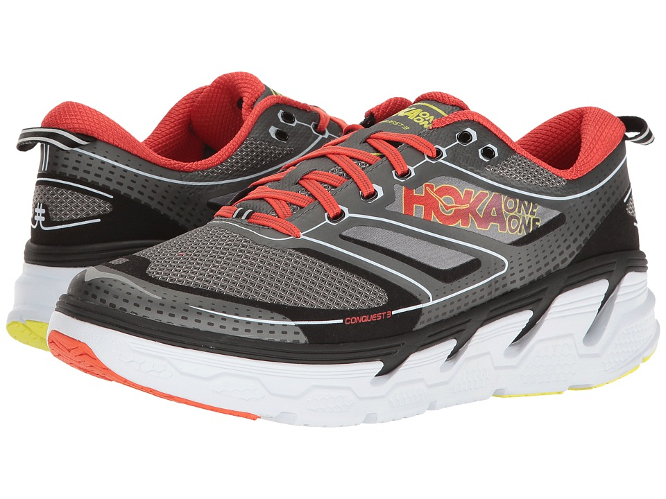 Hoka One One - Conquest 3 (Grey/Orange Flash) Men's Shoes