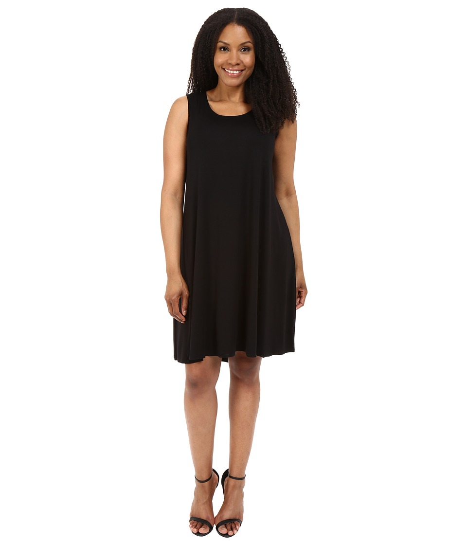 Karen Kane Plus - Plus Size Sleeveless Maggie Trapeze Dress (Black) Women's Dress