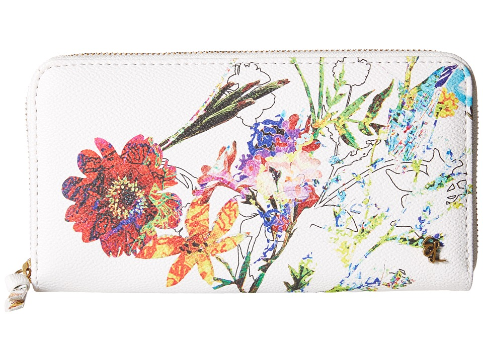Elliott Lucca - Large Zip Wallet (White Spring Botanica) Wallet Handbags