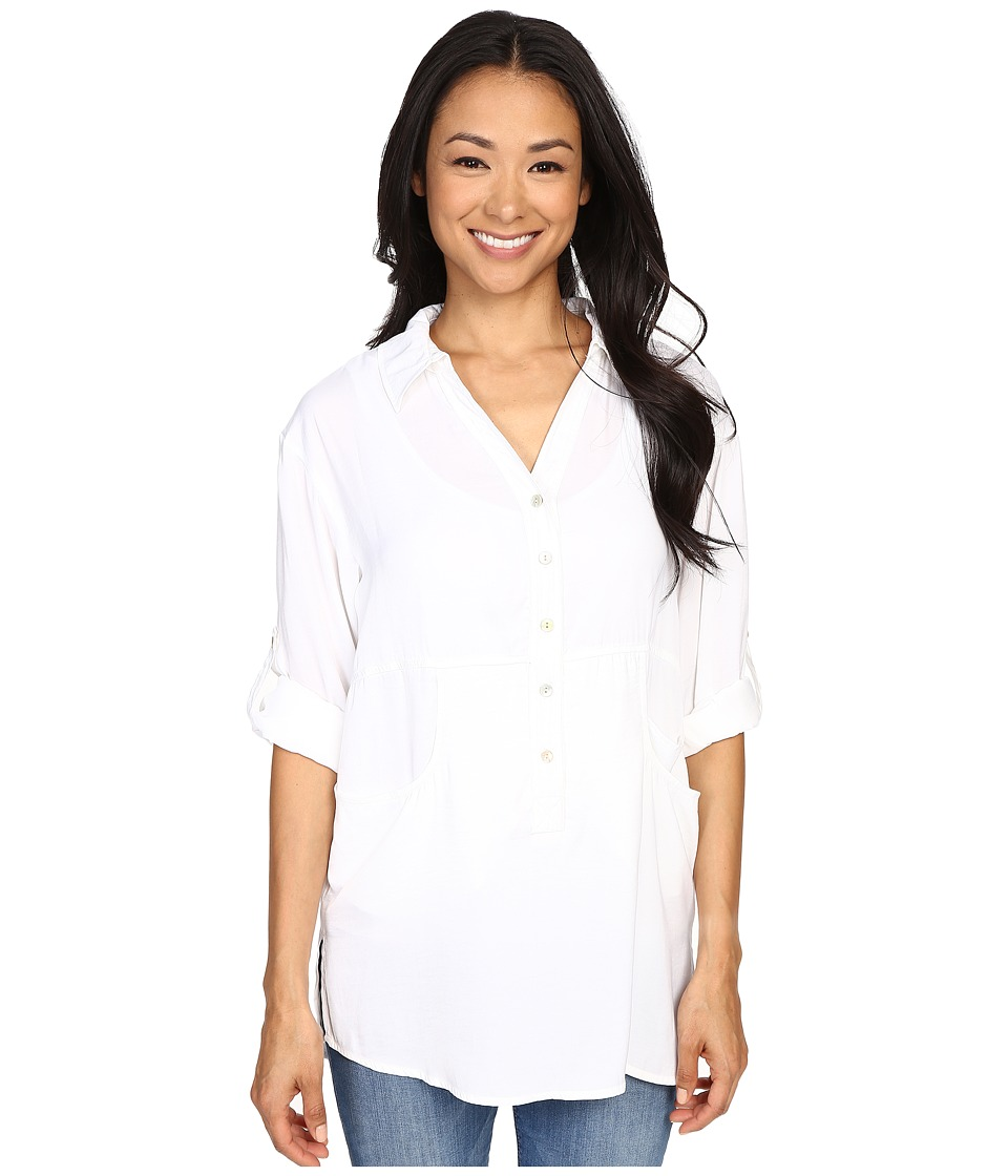 Miraclebody Jeans Trish Pocket Tunic w/ Body-Shaping Inner Shell (White) Women
