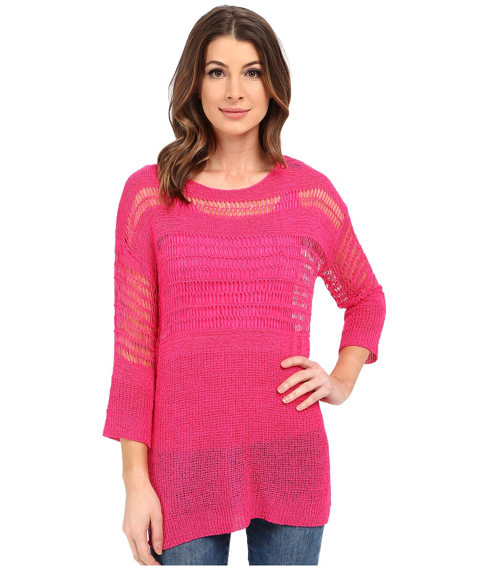 Miraclebody Jeans - Drew Dropneedle Sweater w /  Body-Shaping Inner Shell (Fuchsia) Women's Sweater