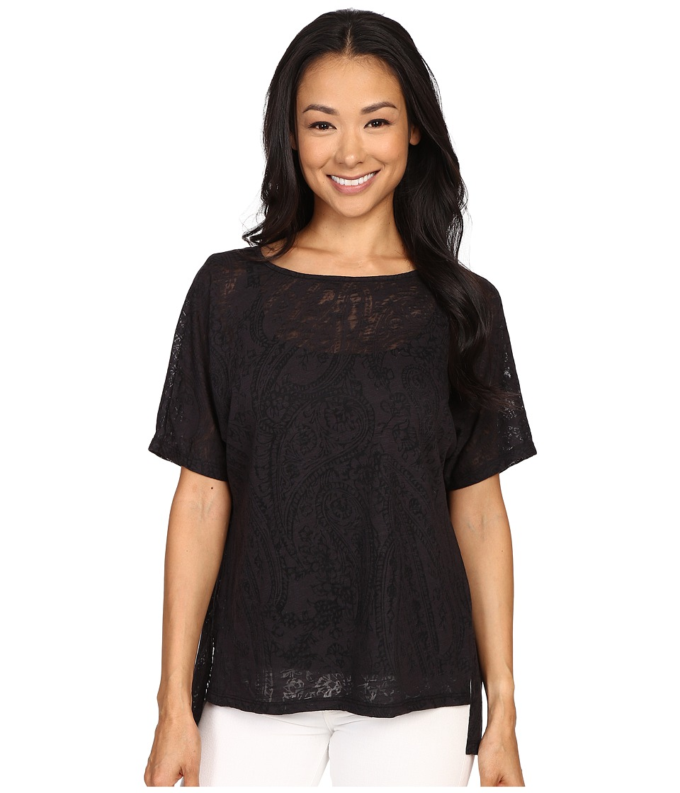 Miraclebody Jeans - Paige Pleat Back Top w/ Body-Shaping Inner Shell (Black 1) Women's Clothing